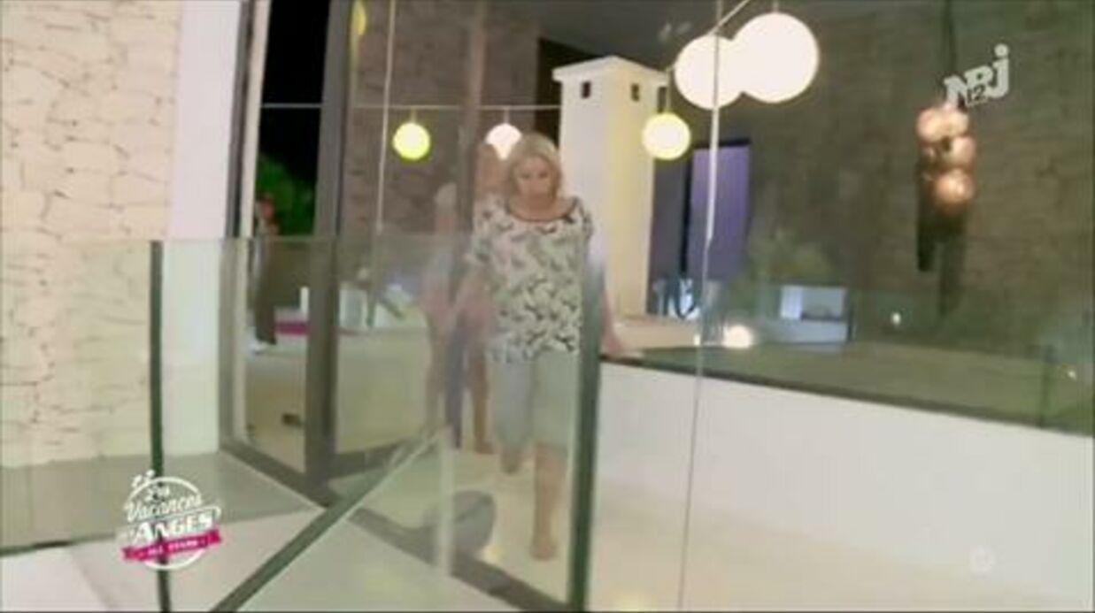 VIDEO Enervée, Myriam Abel se prend une baie vitrée en pleine poire