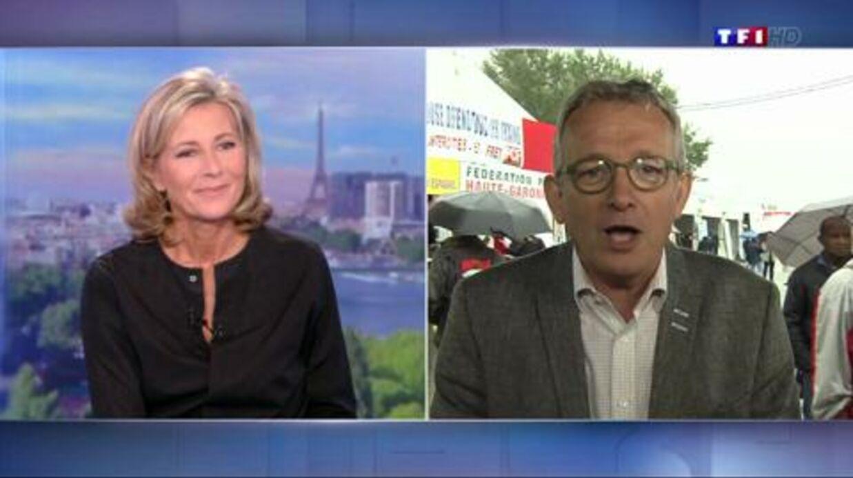 VIDEO Claire Chazal, touchée, reçoit un soutien en direct pendant son JT sur TF1