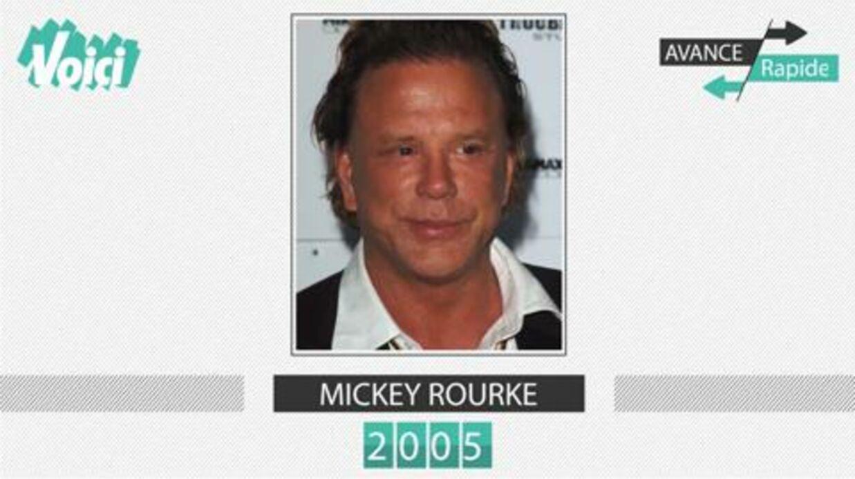 VIDEO Mickey Rourke de 1987 à aujourd'hui: la métamorphose flippante de l'acteur en 1mn
