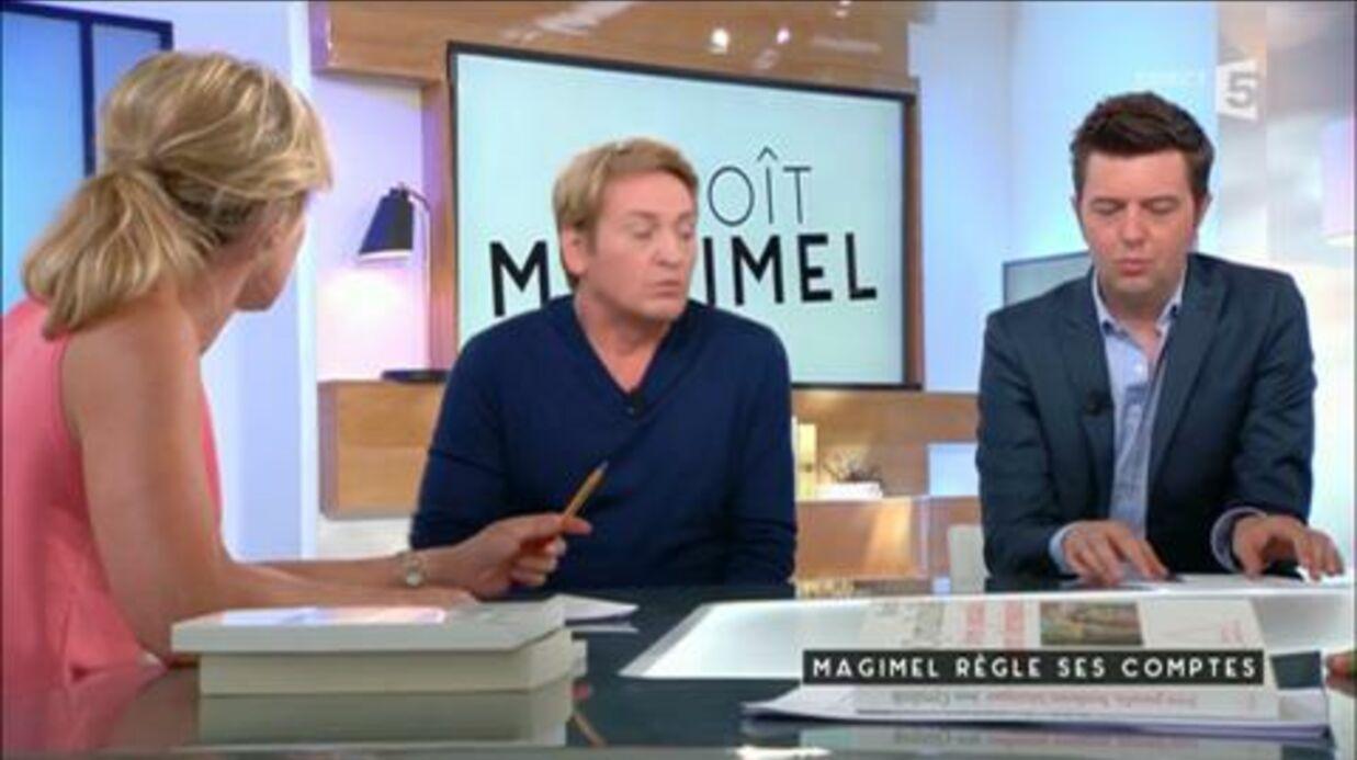 VIDEO Benoît Magimel, interrogé par Anne-Sophie Lapix sur l'épisode de l'accident de voiture, refuse de répondre