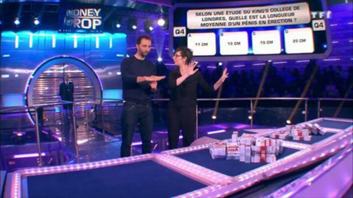 VIDEO Money Drop: fou rire de Laurence Boccolini après une question sur les pénis en érection