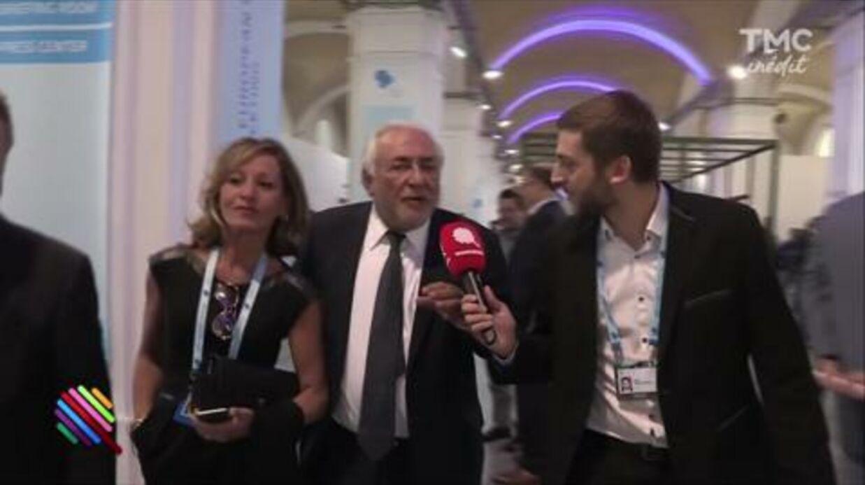 VIDEO Agacé, Dominique Strauss-Kahn balance le micro d'un journaliste de «Quotidien»