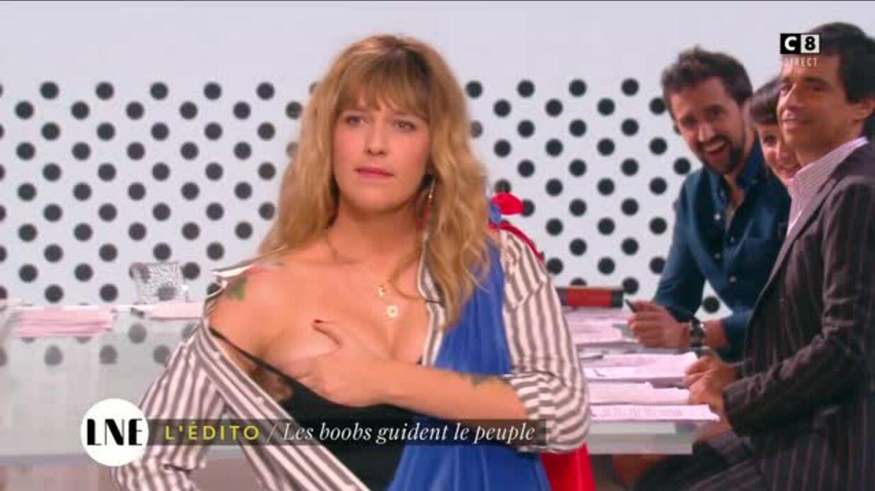 VIDEO Daphné Bürki dévoile un sein en direct pour interpeller Manuel Valls