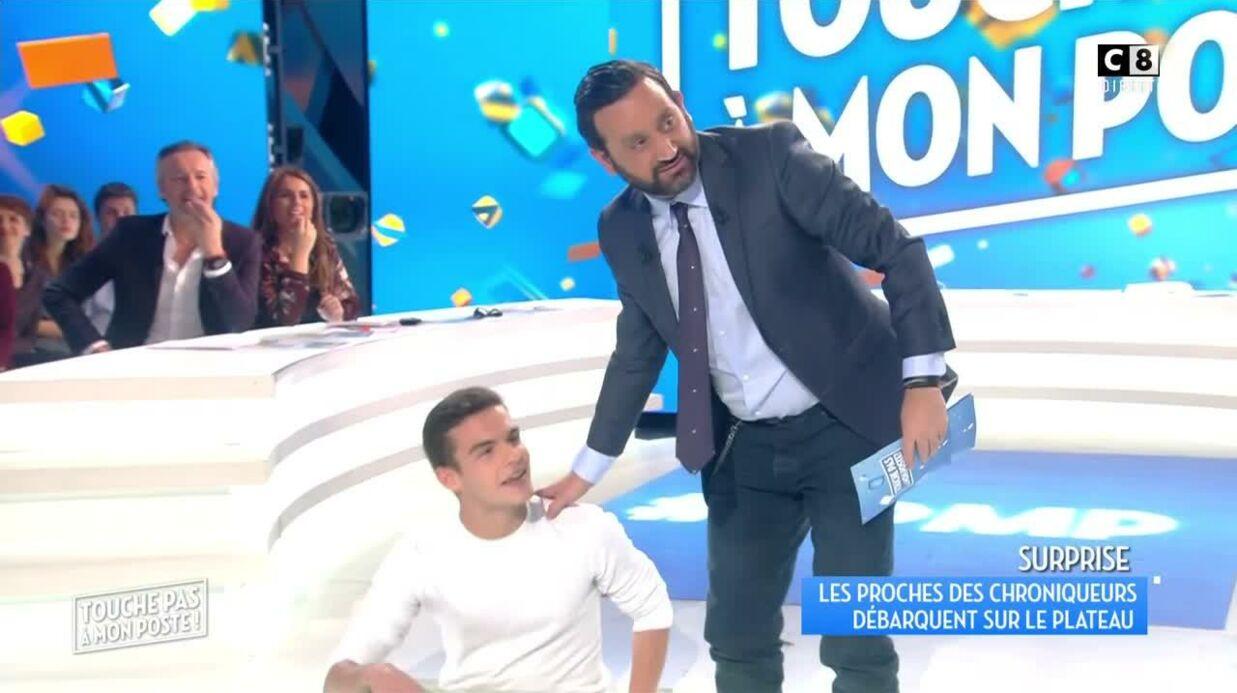 VIDEO Benjamin Castaldi: son fils le rejoint sur le plateau de TPMP et tape dans l'œil de Capucine