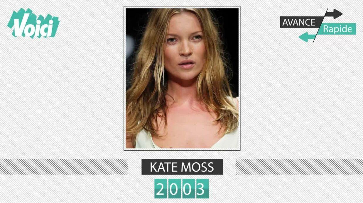 Kate Moss a 43 ans: son évolution physique en une minute, de ses débuts à aujourd'hui