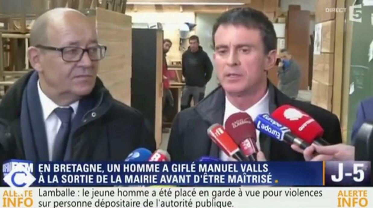 Manuel Valls va porter plainte contre le jeune homme qui l'a giflé