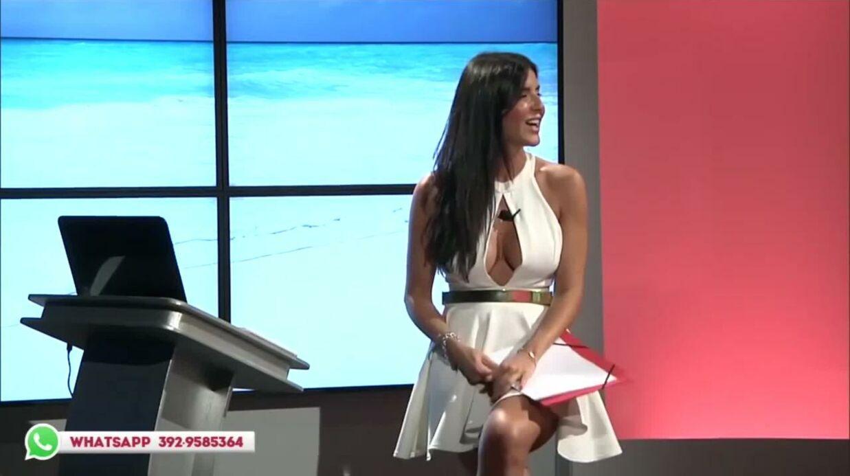 VIDEO Une présentatrice télé ultra décolletée dévoile… sa culotte en direct