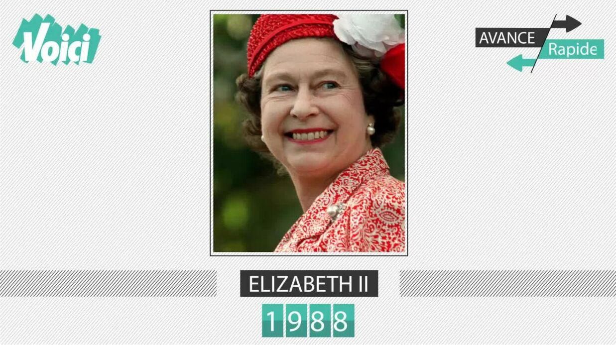 Spécial 30 ans de Voici – Elizabeth II: son évolution physique en une minute