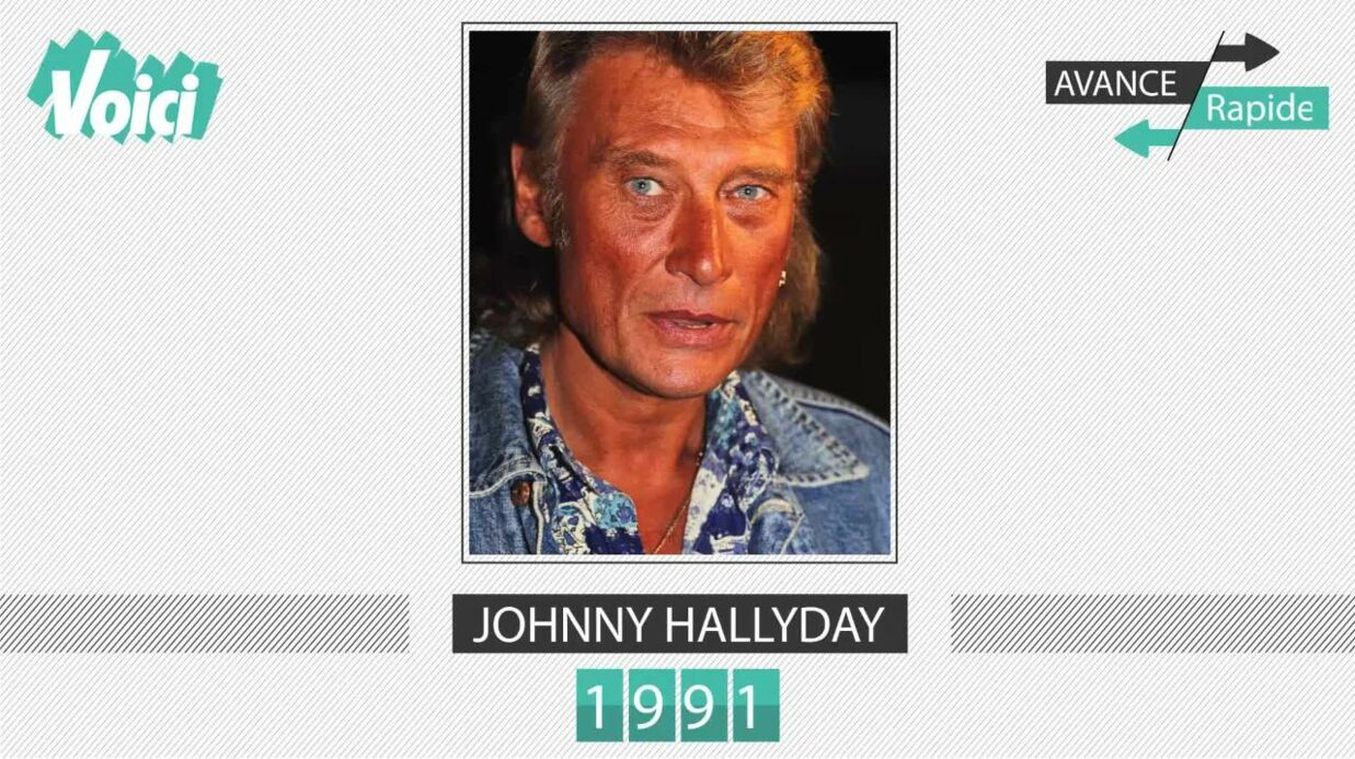 VIDEO Johnny Hally­day a 74 ans : son évolu­tion physique en une minute