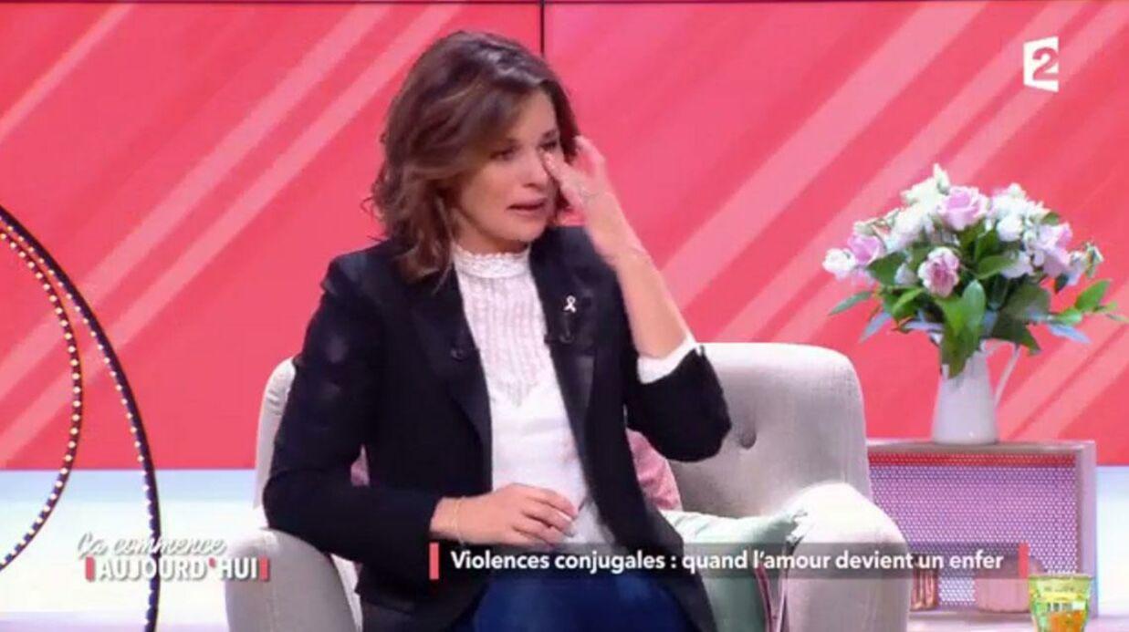 VIDEO Faustine Bollaert en pleurs après le témoignage d'une femme battue