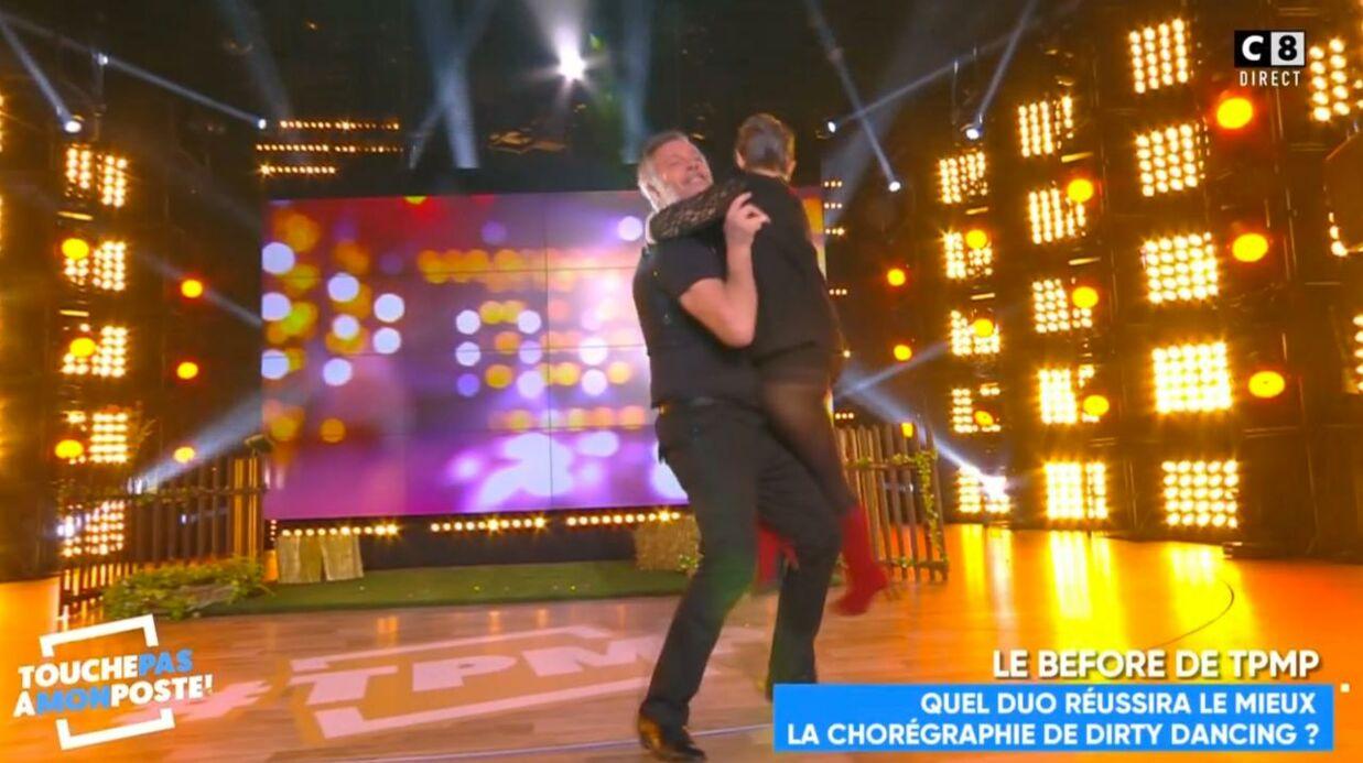 VIDEO Isabelle Morini-Bosc tente le porté de Dirty Dancing et montre sa culotte
