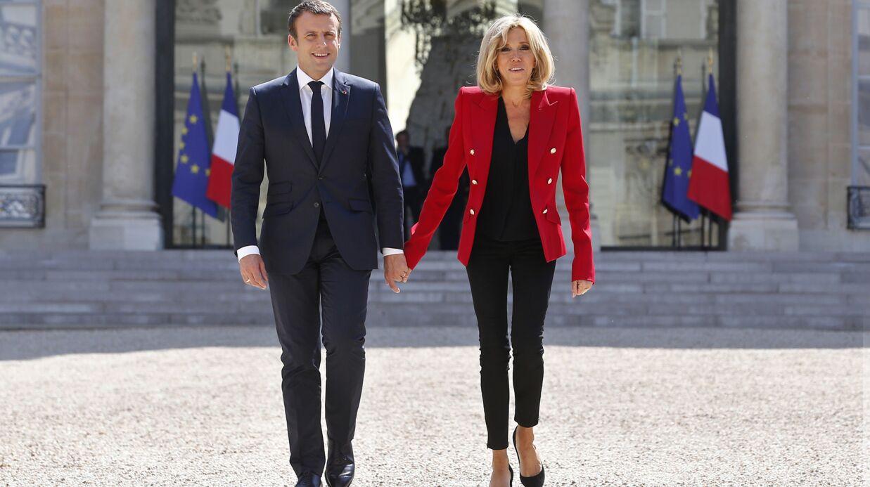 PHOTOS Brigitte Macron complimentée sur son style par des enfants en visite à l'Elysée