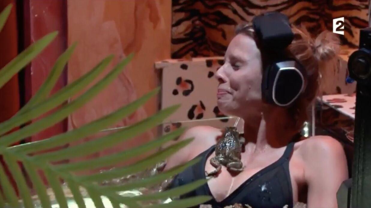 VIDEO Sylvie Tellier se retrouve avec une grenouille dans le décolleté à Fort Boyard