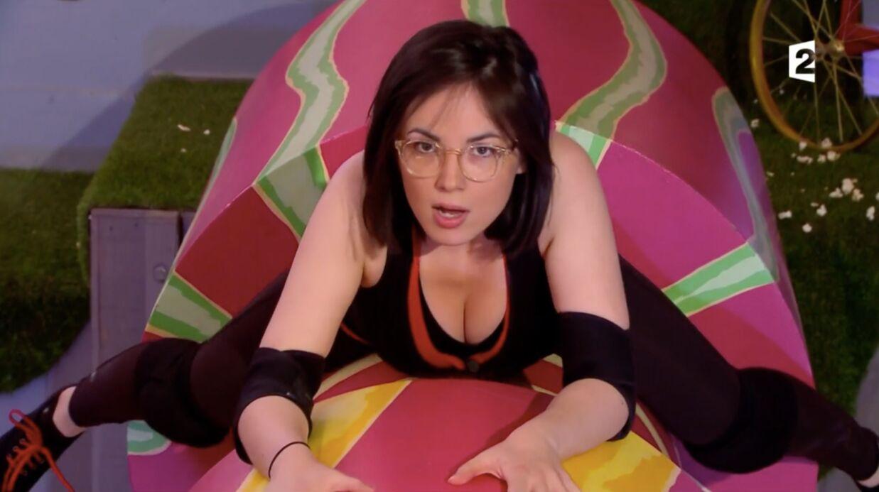 VIDEO Agathe Auproux sur les rouleaux de Fort Boyard, une équilibriste très sexy