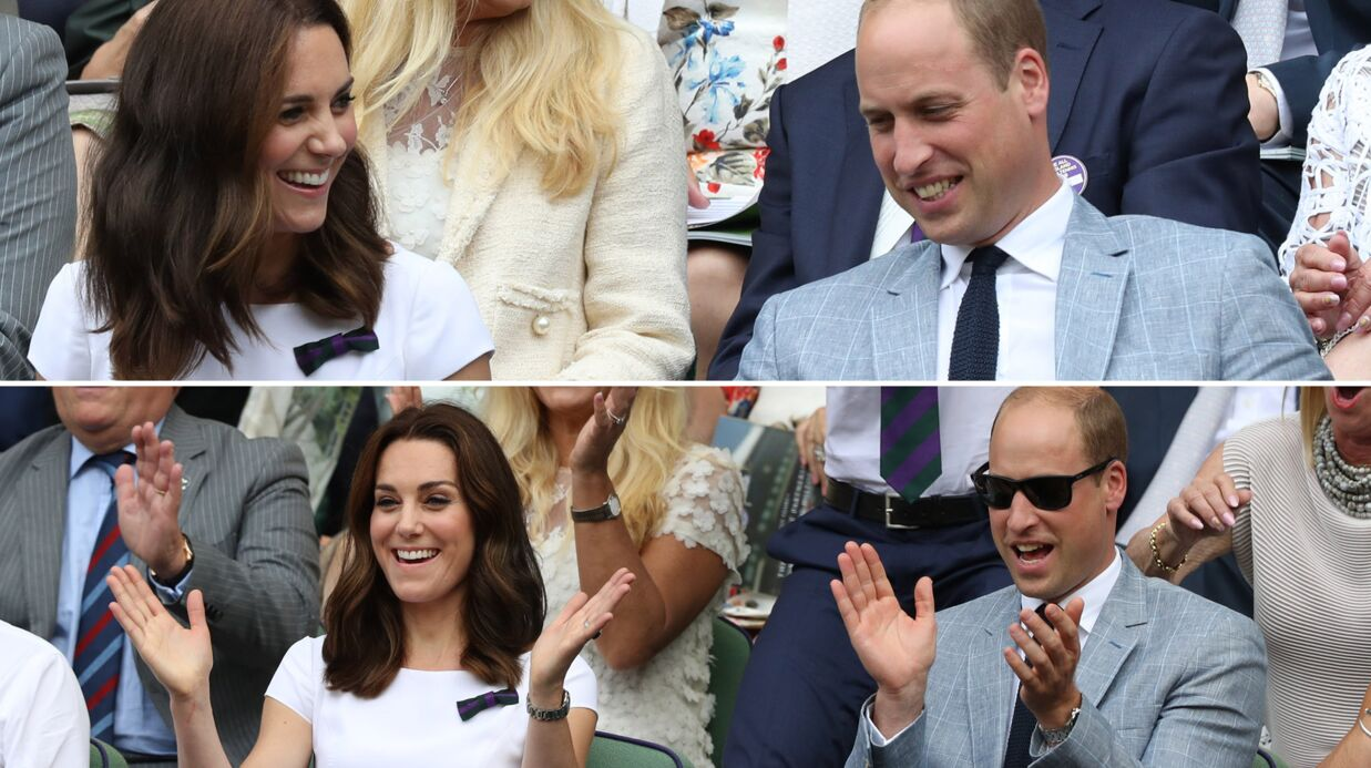 PHOTOS Kate Midd­le­ton et le prince William amou­reux, complices et eupho­riques à Wimble­don