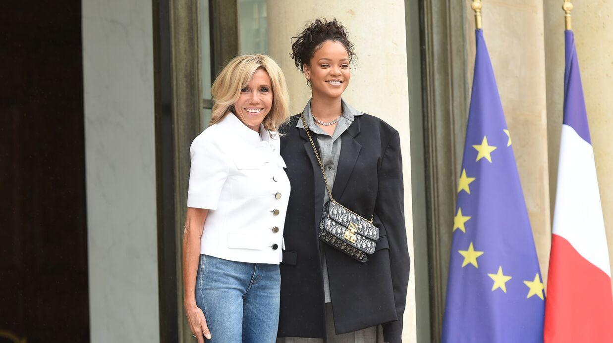 PHOTOS Radieuse, Brigitte Macron accueille Rihanna à l'Elysée