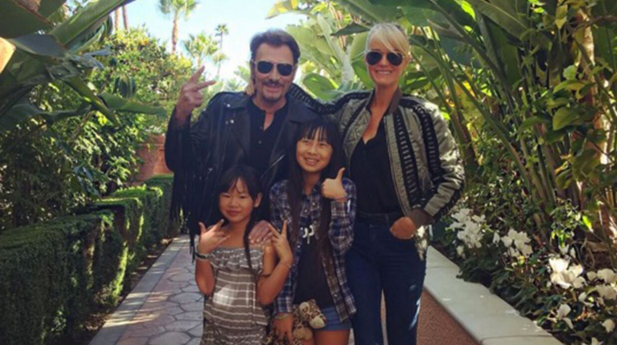 Johnny Hallyday fête l'anniversaire de sa fille Joy en famille et en chanson