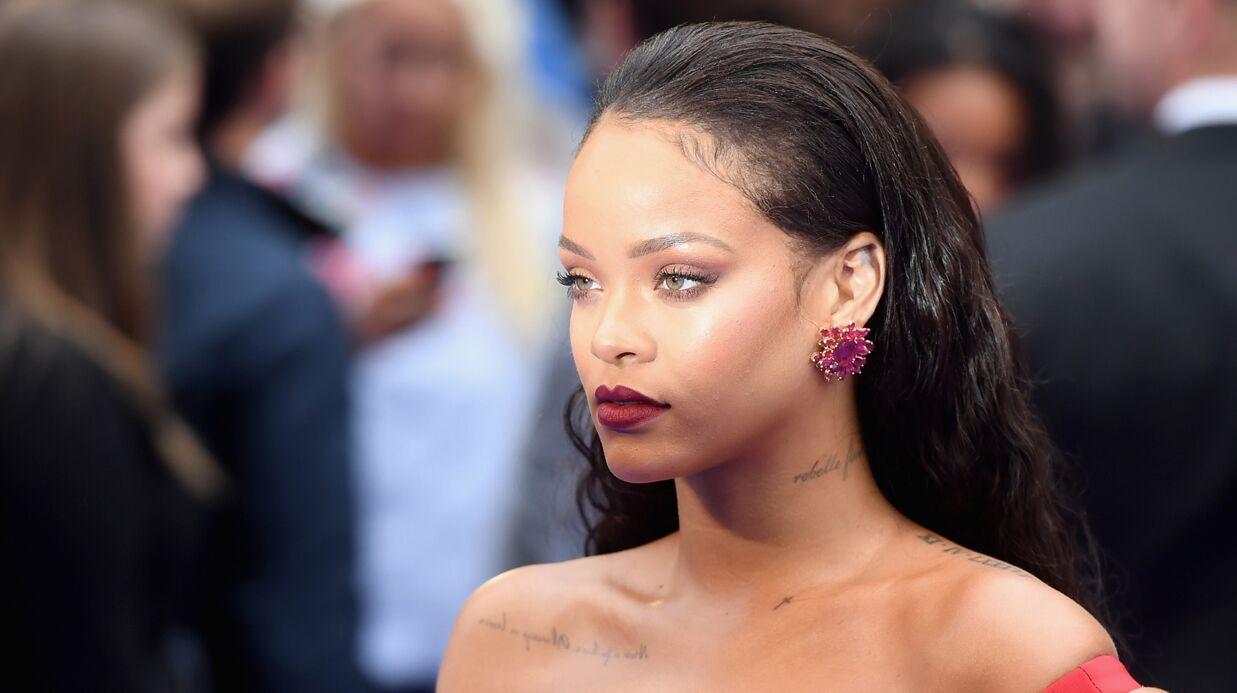 PHOTOS Rihanna sort une collection de chaussettes à son effigie