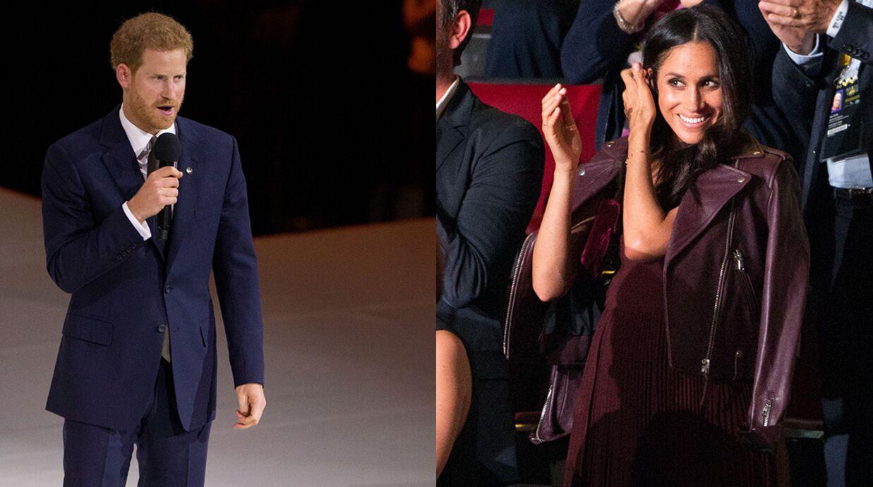 PHOTOS Meghan Markle en admiration devant le prince Harry pour leur première apparition publique