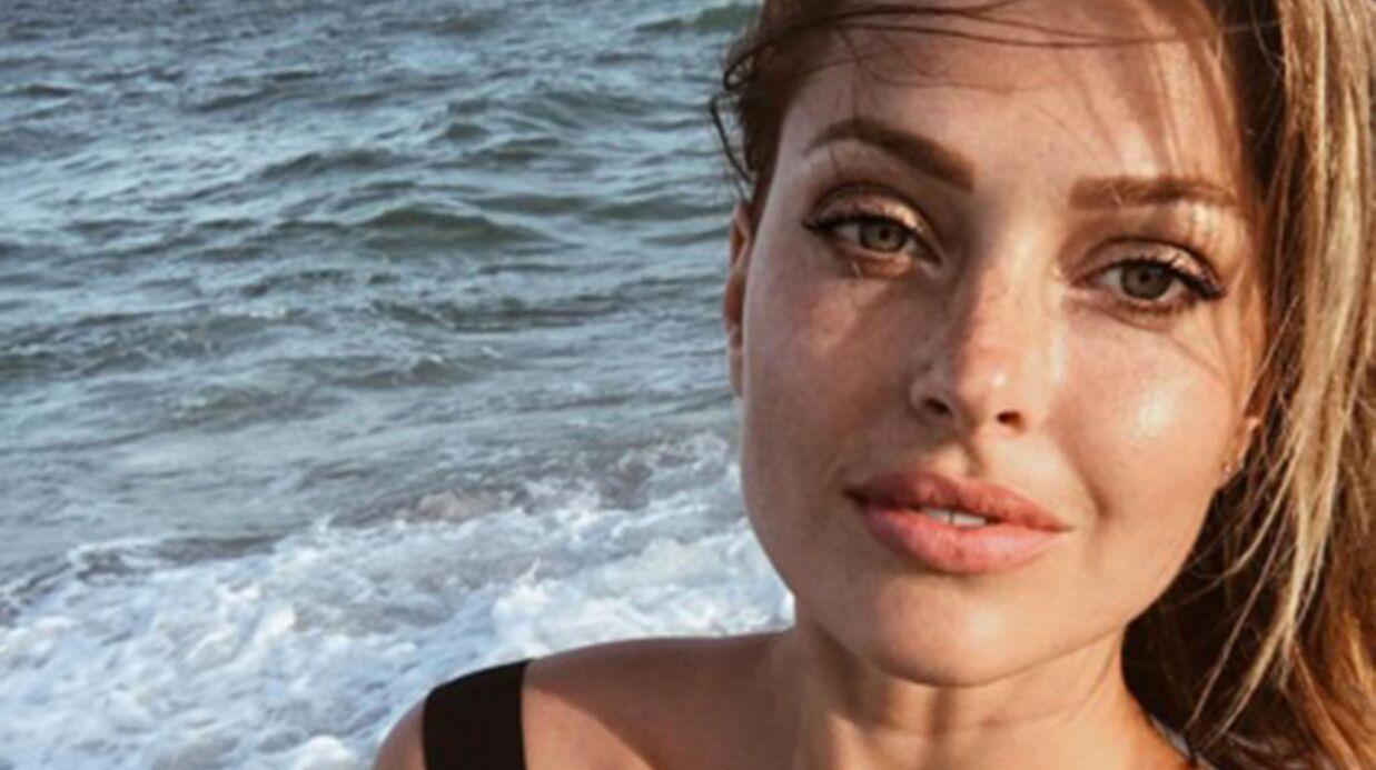 PHOTO Caroline Receveur plus sexy que jamais en soutien-gorge transparent et culotte assortie