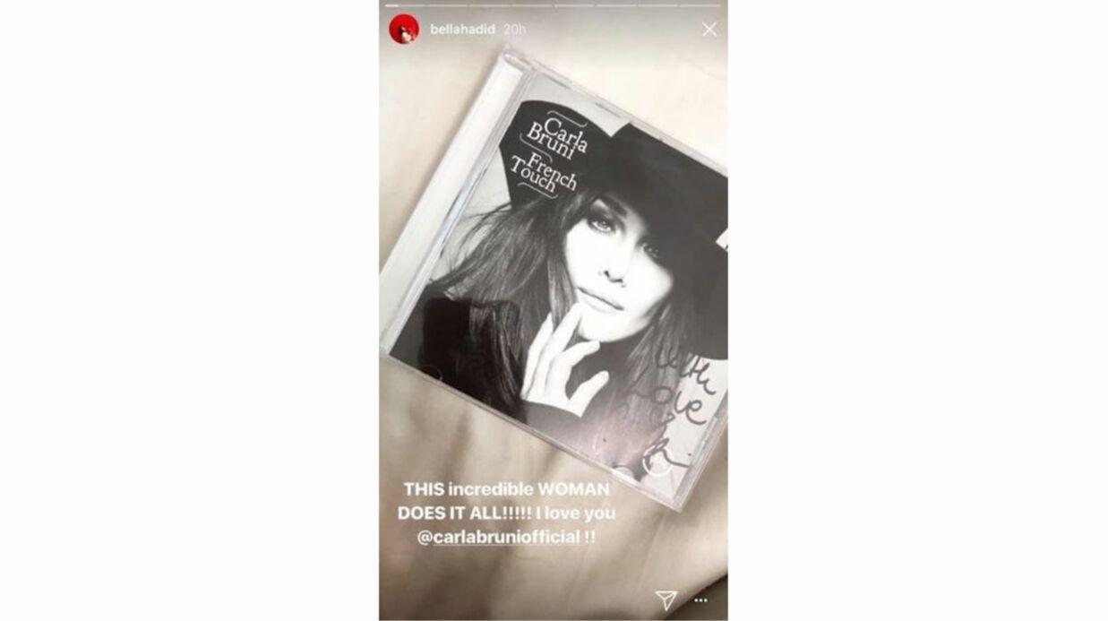 Bella Hadid: fan de Carla Bruni, elle lui fait une déclaration très touchante