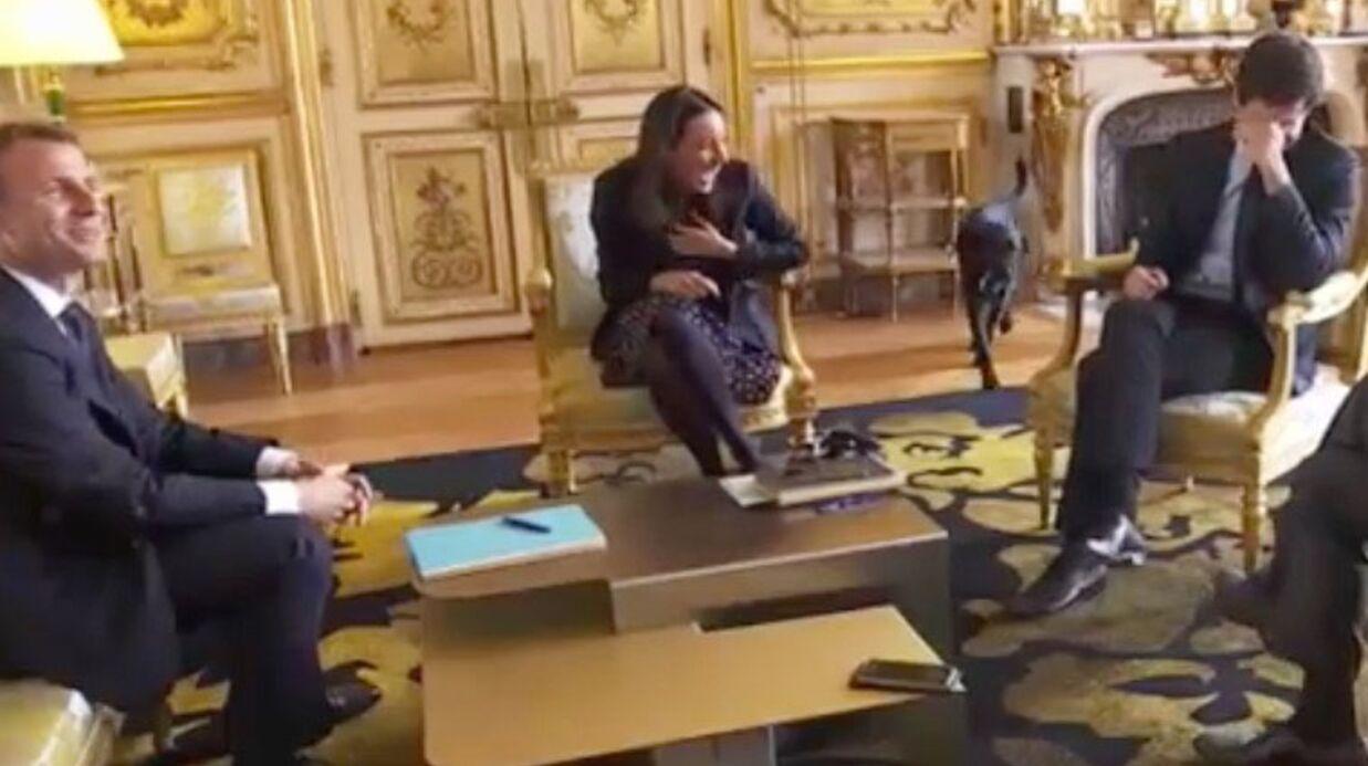 Nemo, le chien du président, interrompt une réunion... par un pipi — Élysée