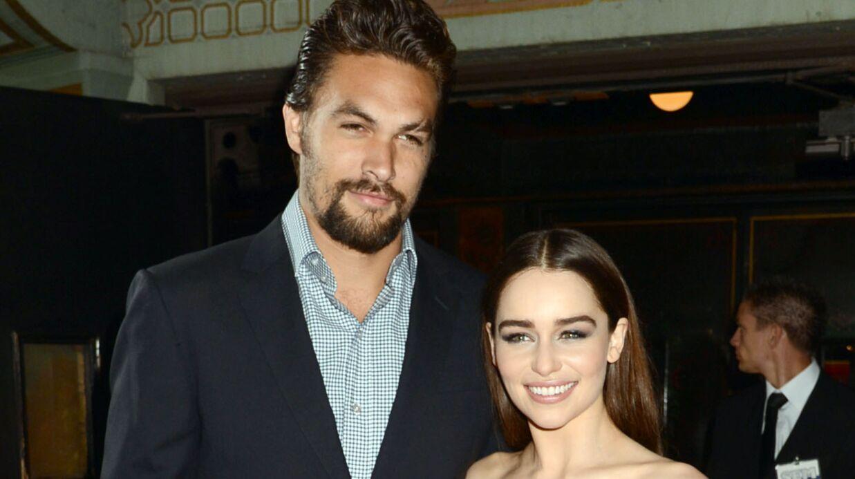 PHOTOS Game of Thrones: Emilia Clarke et Jason Momoa (alias Daenerys et Khal Drogo) ravis de se revoir