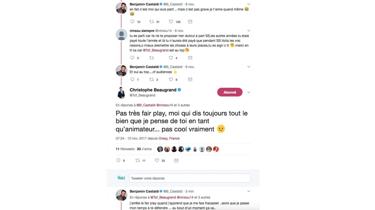 Secret Story: Benjamin Castaldi règle ses comptes avec Christophe Beaugrand sur Twitter