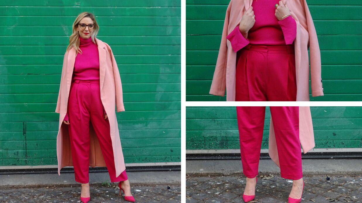 Comment s'habiller en total look rose sans se transformer en Little Pony? Le défi de Virginie