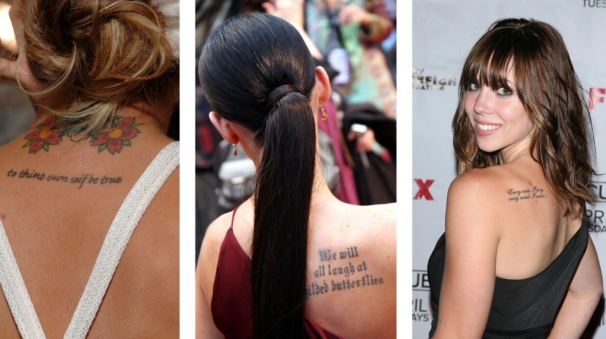 Tattoo écrit: le tatouage de phrase