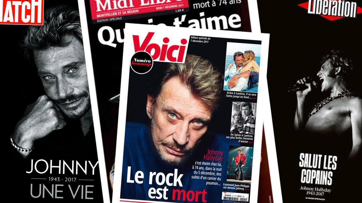PHOTOS : Mort de Johnny Hally­day : décou­vrez les plus belles unes de la presse