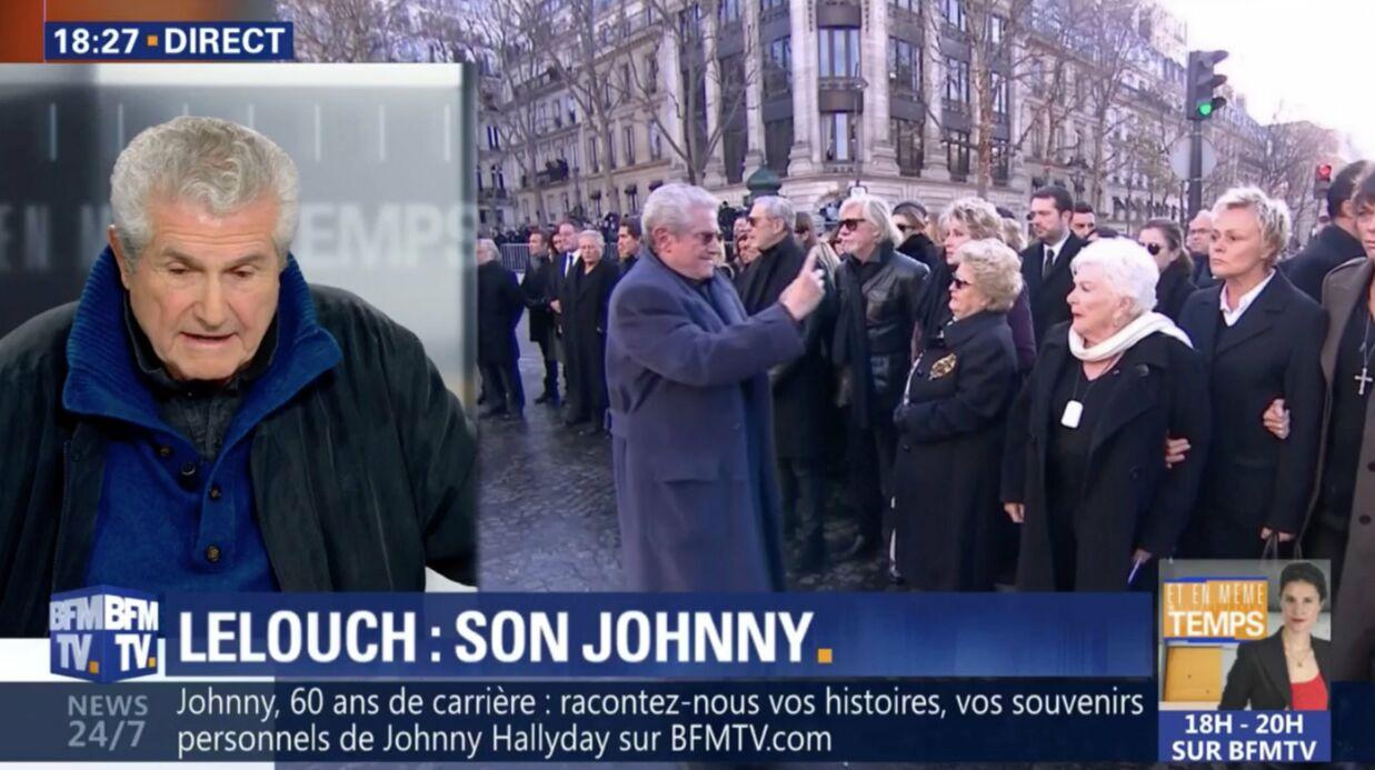 Claude Lelouch explique pourquoi il filmait la cérémonie — Hommage à Johnny