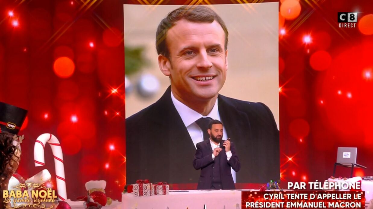 VIDEO Cyril Hanouna arrive à joindre Emma­nuel Macron par télé­phone pour ses 40 ans