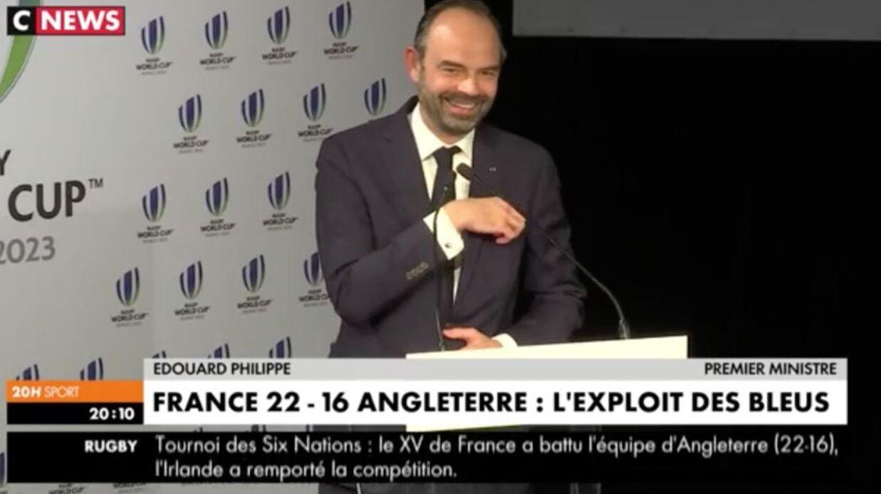 Le fou-rire d'Edouard Philippe après un lapsus gênant (Vidéo)