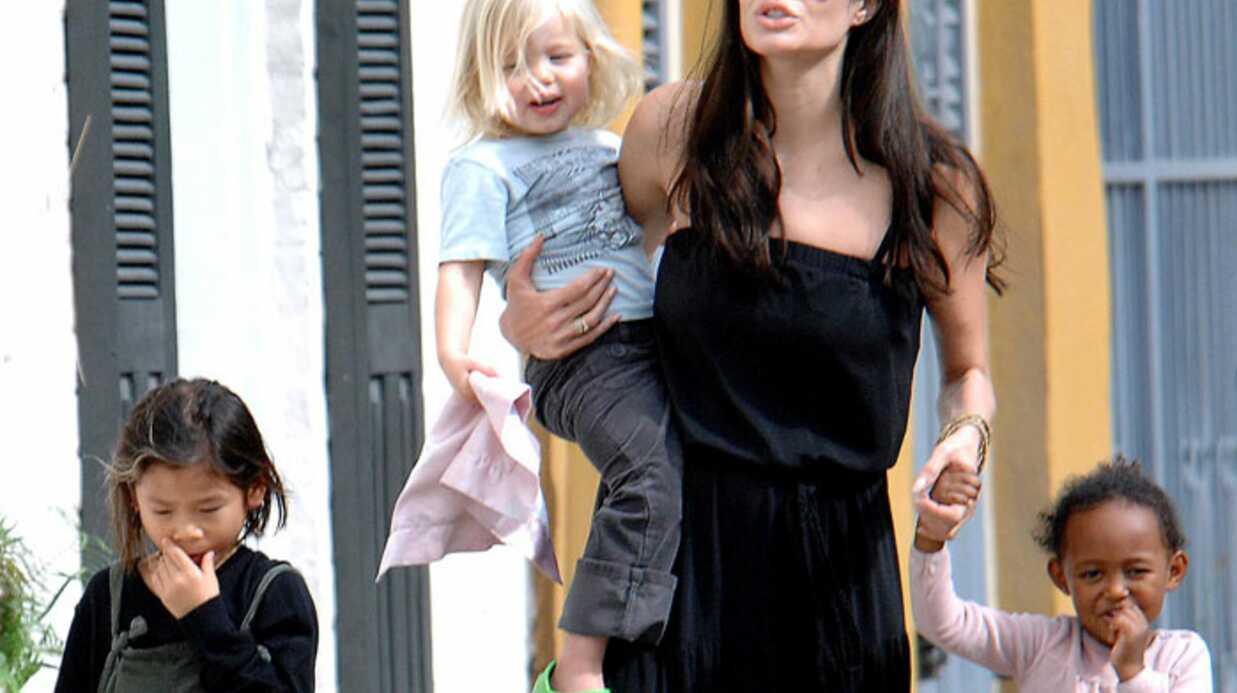 Angelina Jolie en famille sans Brad Pitt