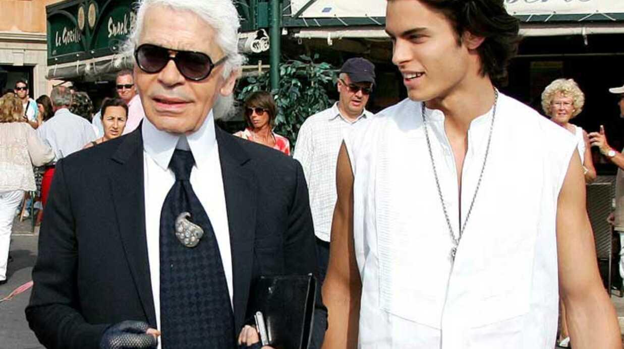 Baptiste Giabiconi adoubé par Karl Lagerfeld