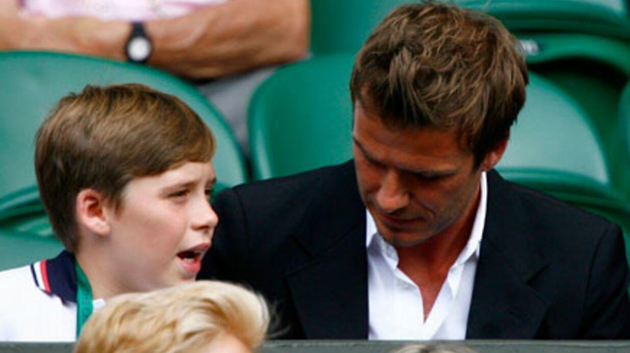PHOTOS David Beckham et son fils à Wimbledon