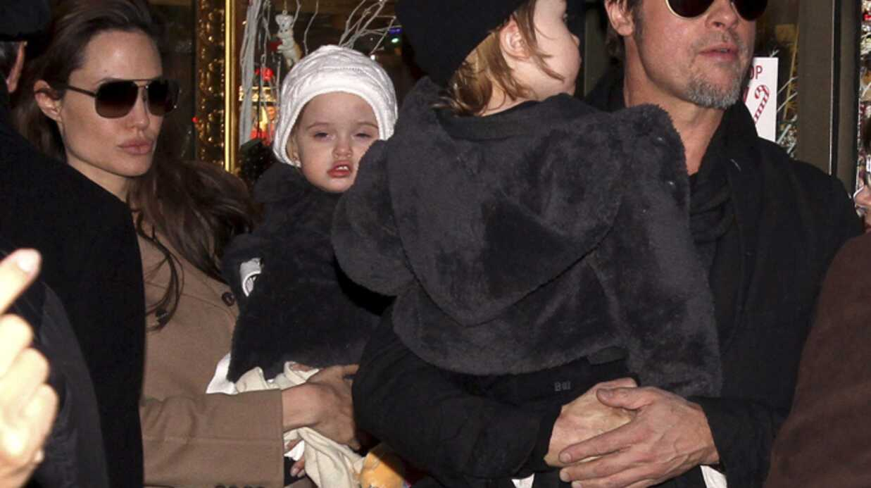 PHOTOS Brad Pitt et Angelina Jolie avec leurs jumeaux à New York