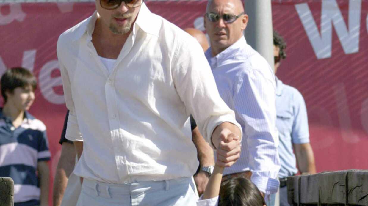 Brad Pitt à Venise avec Pax et Maddox