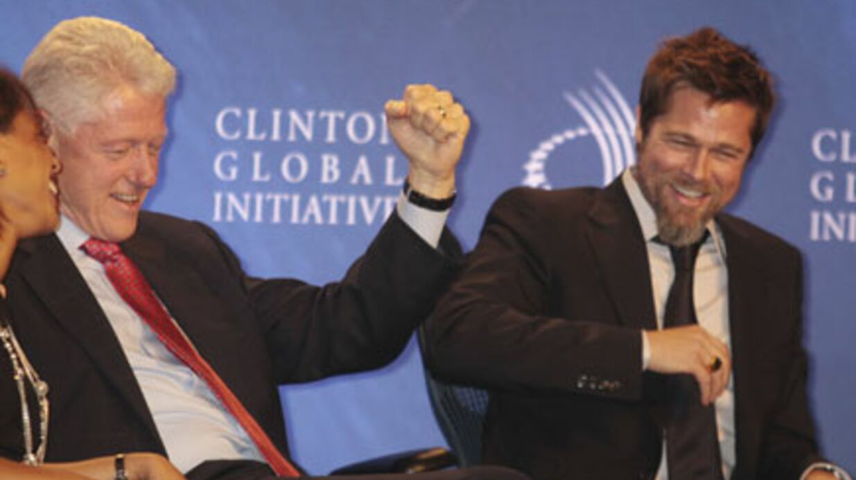 PHOTOS Brad Pitt s'éclate avec Bill Clinton