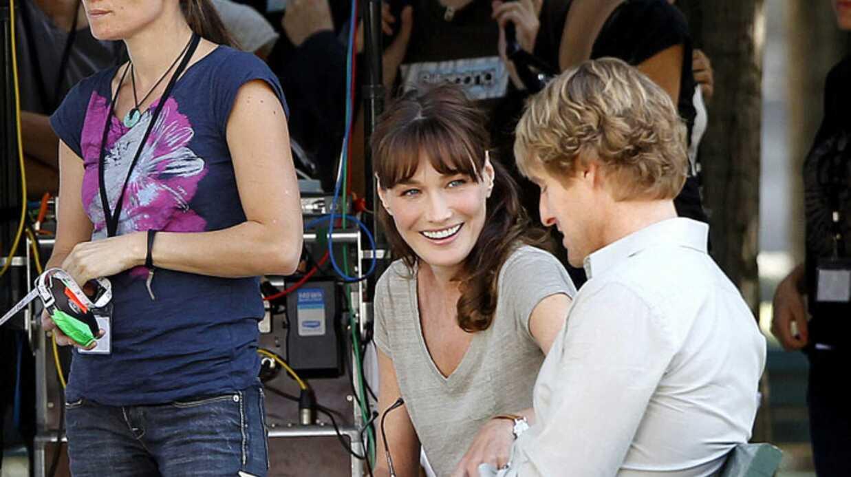 PHOTOS Carla Bruni-Sarkozy en tournage avec Woody Allen