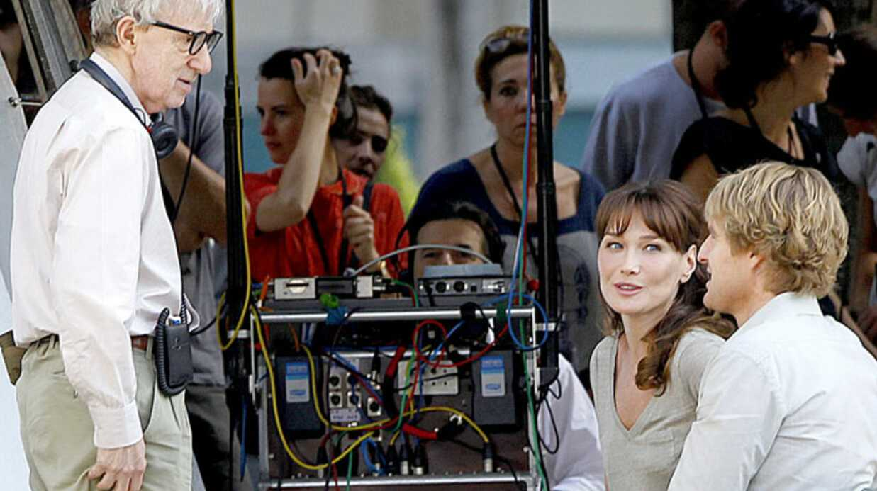 PHOTOS Carla Bruni-Sarkozy en tour­nage avec Woody Allen