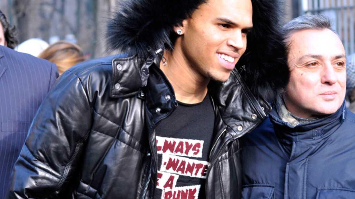 Chris Brown se régale à la Fashion Week de Milan