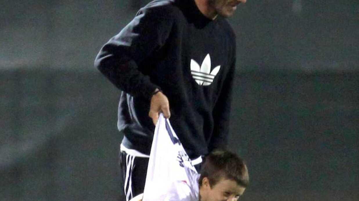 PHOTOS David Beckham joue au foot avec ses fils