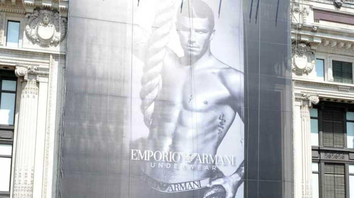 PHOTOS David Beckham: nouvelle pub sexy pour Armani
