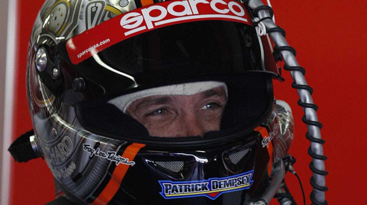 PHOTOS Patrick Dempsey teste le circuit du Mans