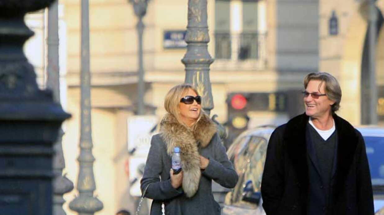 Goldie Hawn et Kurt Russell Saint-Valentin à Paris