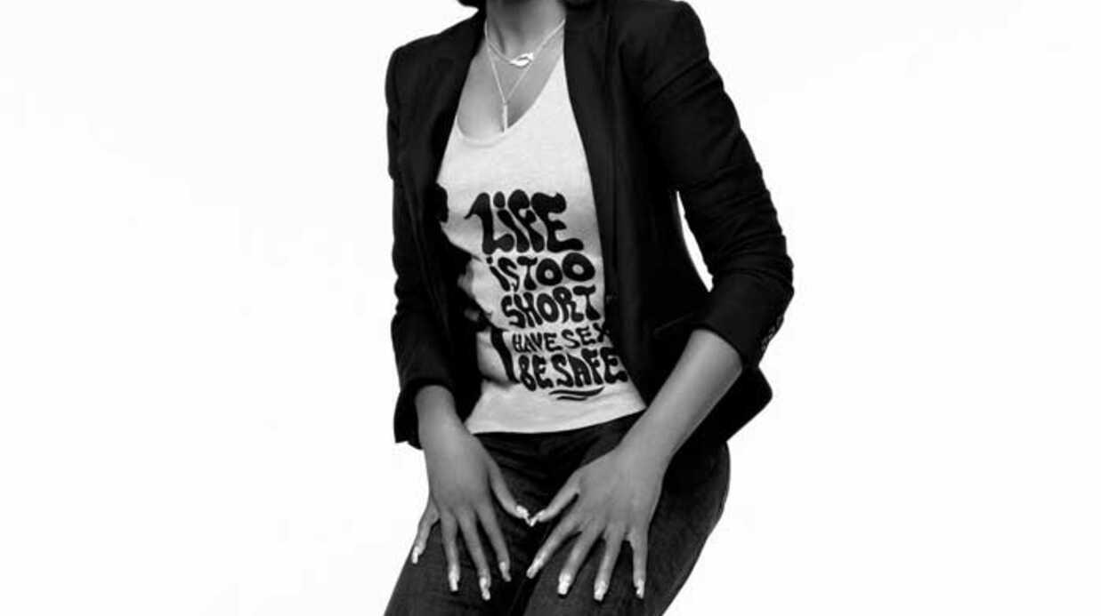 PHOTOS Dita Von Teese présente la collection H&M Against Aids
