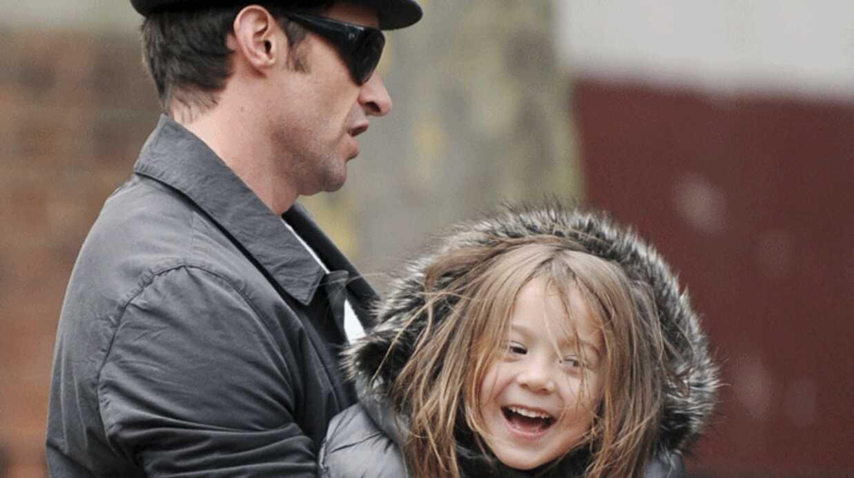 PHOTOS Hugh Jackman au parc avec sa fille