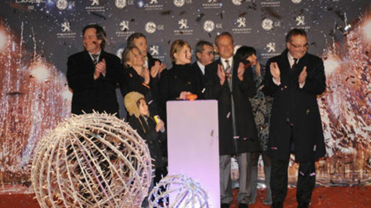 Mélanie Laurent lance les illuminations des Champs-Élysées